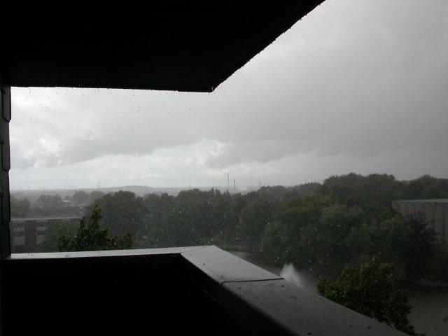 einsetzender Regen